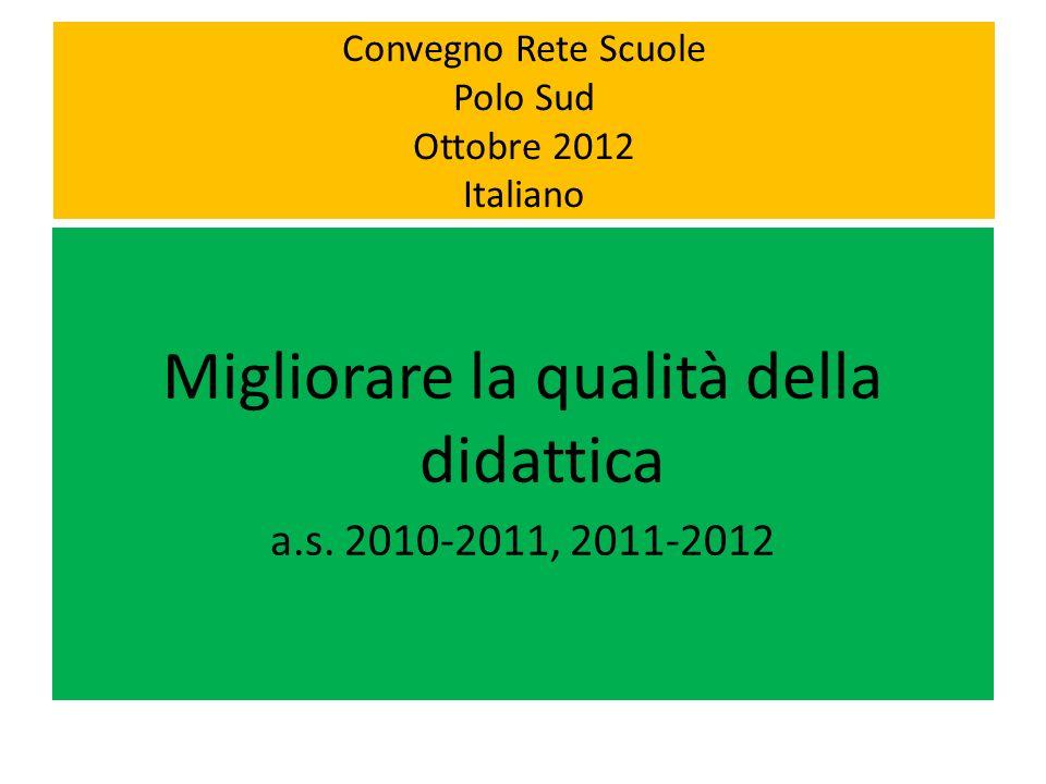 Convegno Rete Scuole Polo Sud Ottobre 2012 Italiano