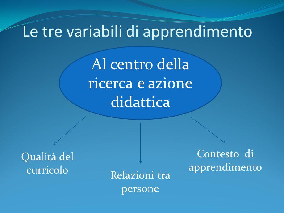 Le tre variabili di apprendimento