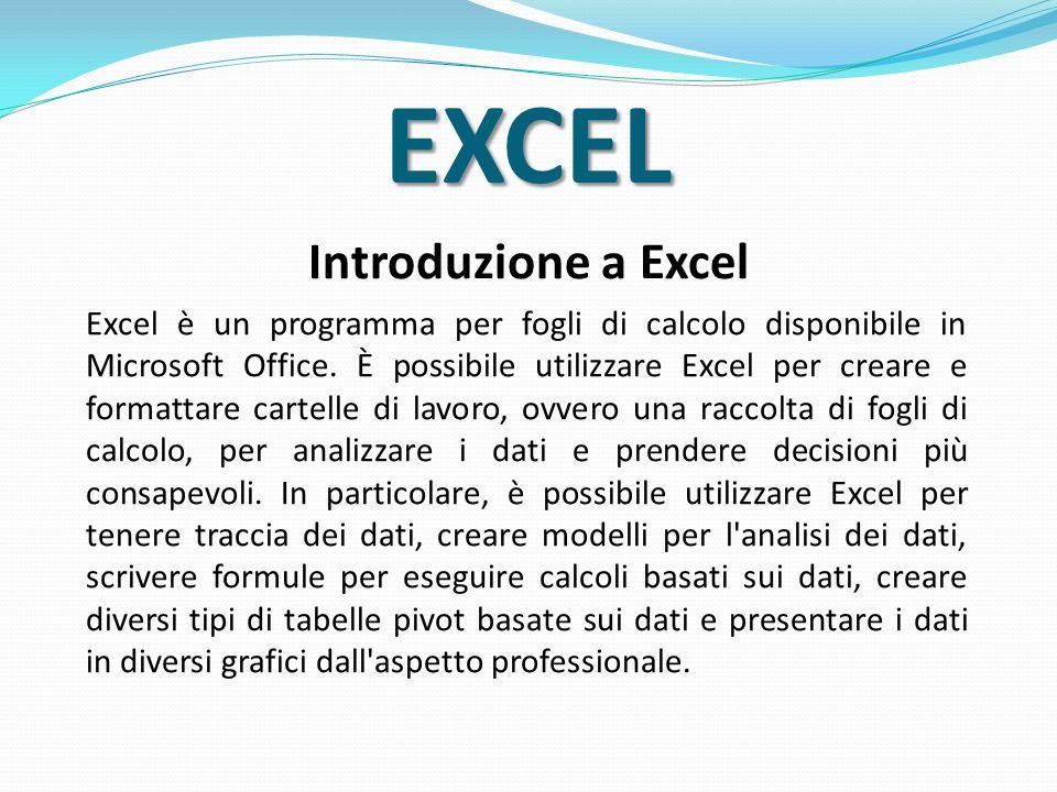 EXCEL Introduzione a Excel