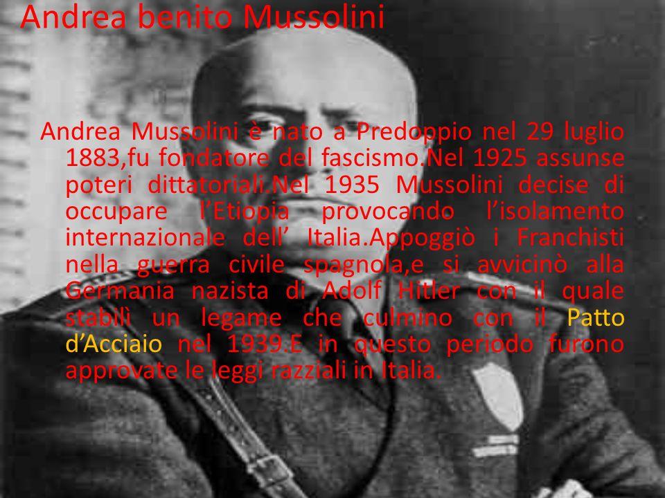 Andrea benito Mussolini