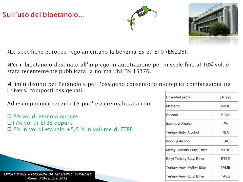 Sull'uso del bioetanolo…