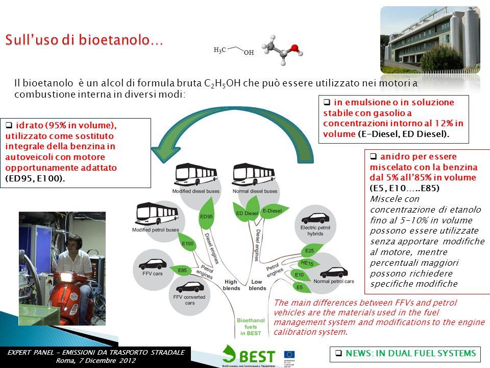 Sull'uso di bioetanolo…