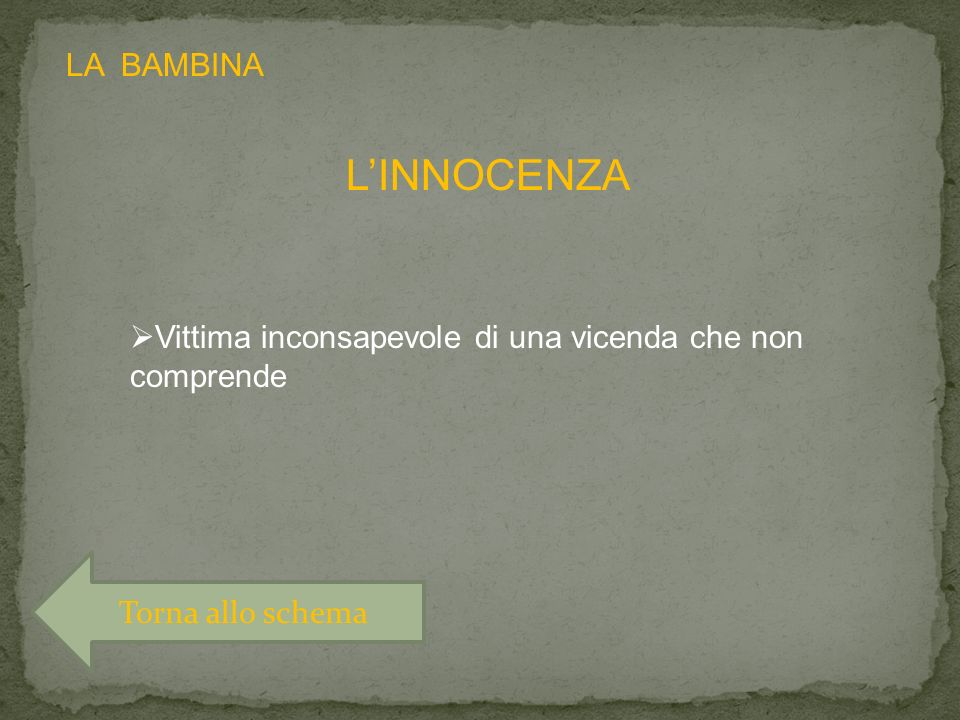 L'INNOCENZA LA BAMBINA