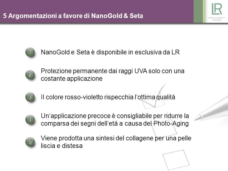 5 Argomentazioni a favore di NanoGold & Seta