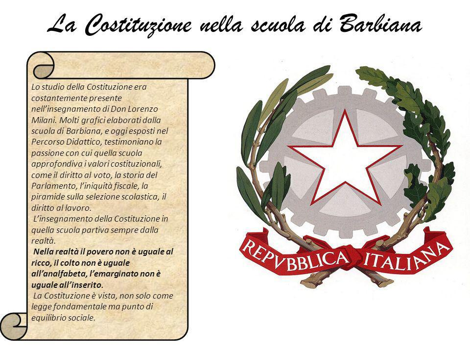 La Costituzione nella scuola di Barbiana