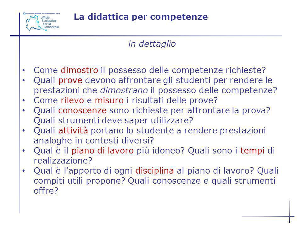 La didattica per competenze