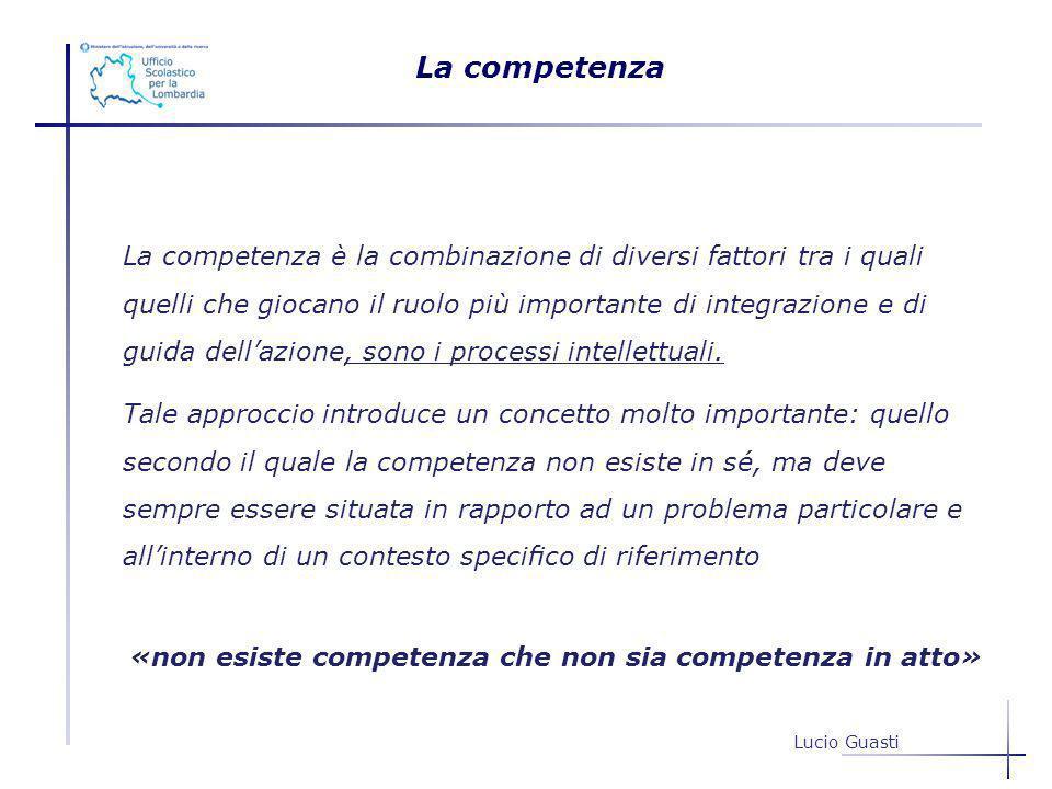 «non esiste competenza che non sia competenza in atto»