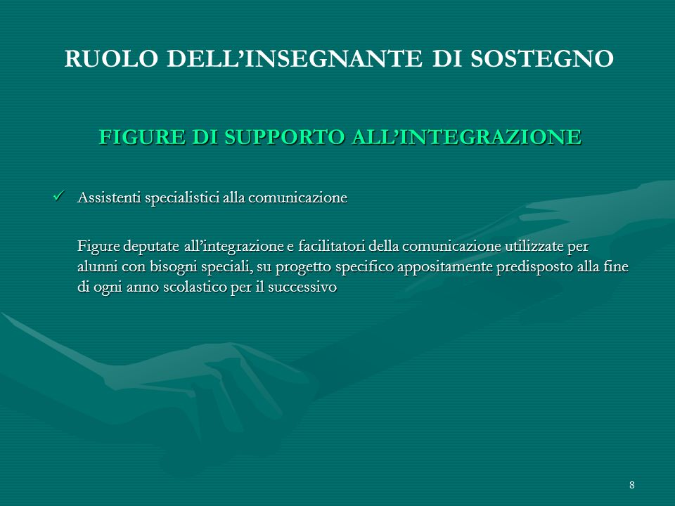 FIGURE DI SUPPORTO ALL'INTEGRAZIONE