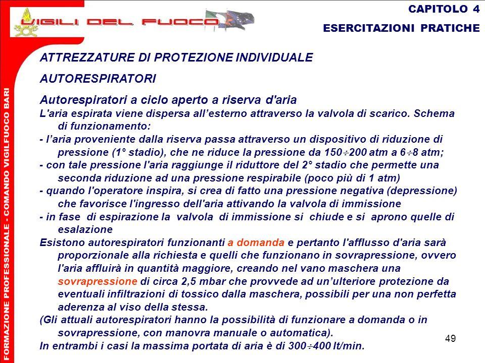 ATTREZZATURE DI PROTEZIONE INDIVIDUALE AUTORESPIRATORI