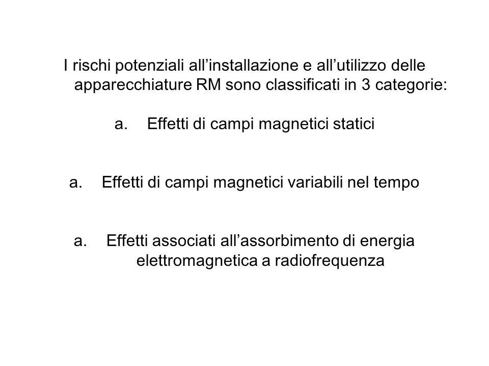 Effetti di campi magnetici statici