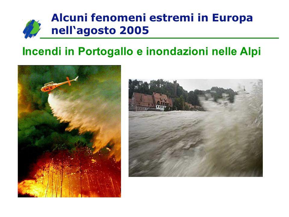 Incendi in Portogallo e inondazioni nelle Alpi