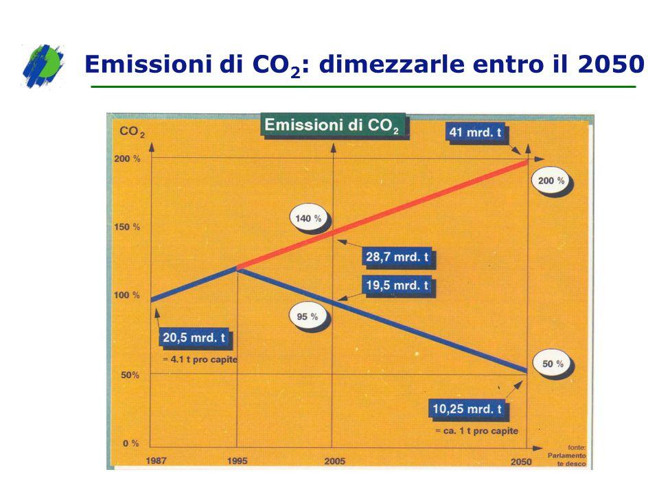 Emissioni di CO2: dimezzarle entro il 2050