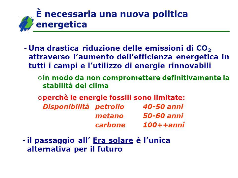 È necessaria una nuova politica energetica