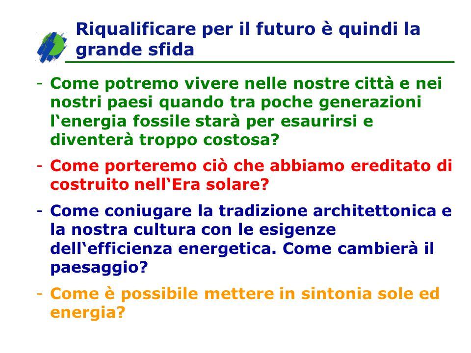 Riqualificare per il futuro è quindi la grande sfida