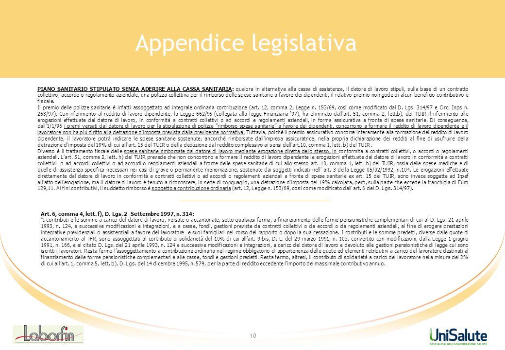 Appendice legislativa