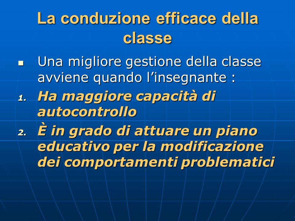 La conduzione efficace della classe