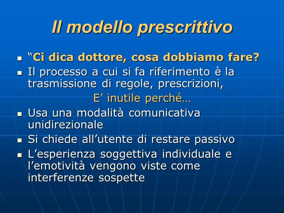 Il modello prescrittivo
