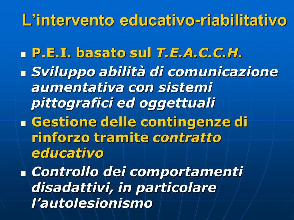 L'intervento educativo-riabilitativo