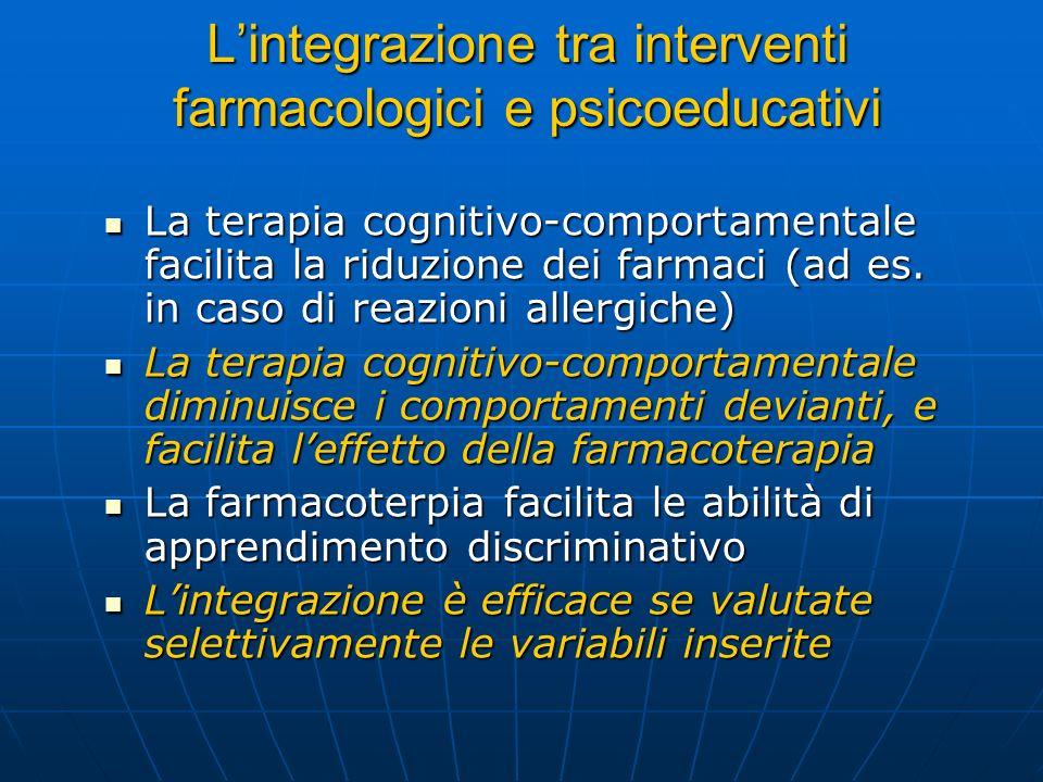 L'integrazione tra interventi farmacologici e psicoeducativi