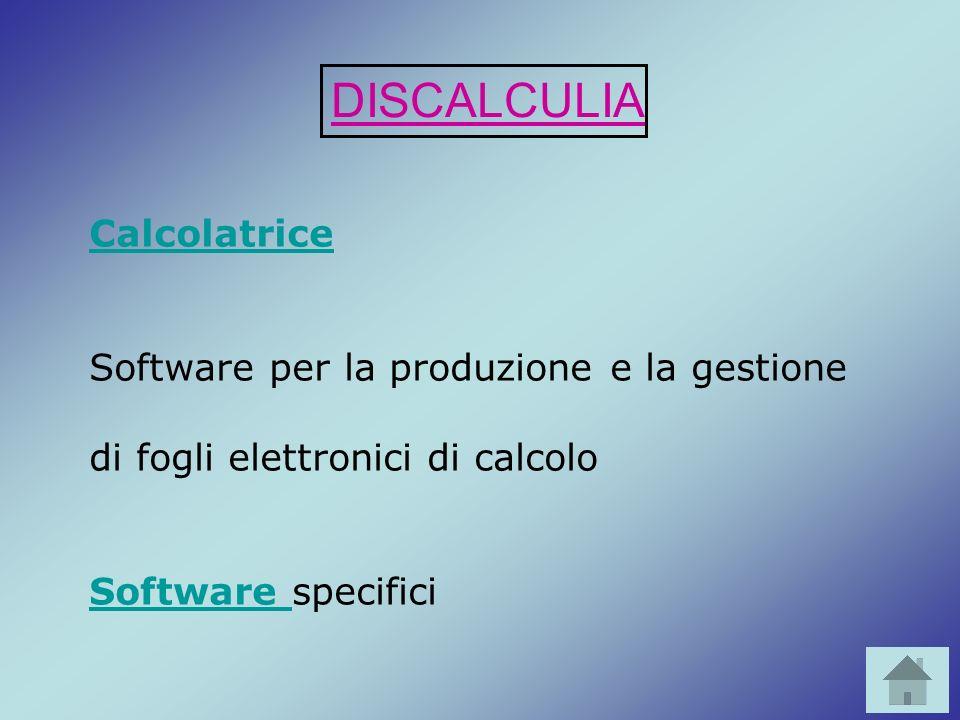 DISCALCULIA Calcolatrice Software per la produzione e la gestione