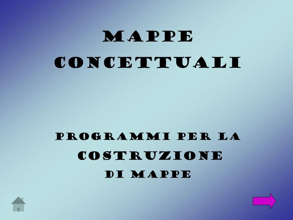 MAPPE CONCETTUALI Programmi per la costruzione di mappe