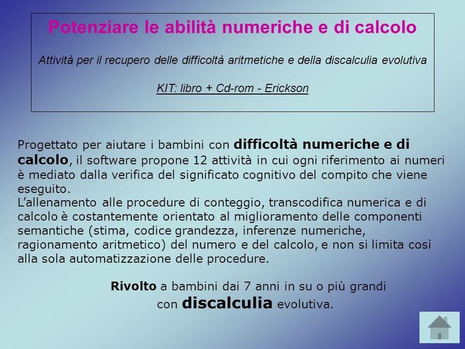 Potenziare le abilità numeriche e di calcolo