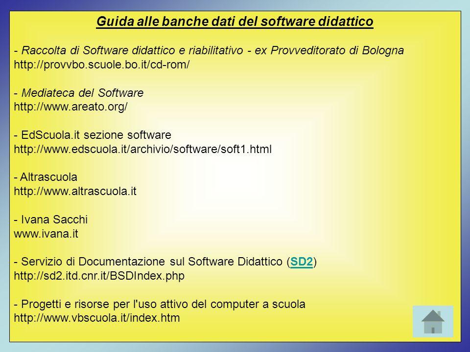 Guida alle banche dati del software didattico