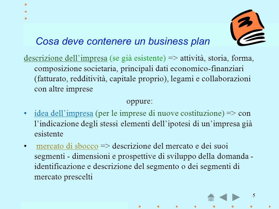 Cosa deve contenere un business plan