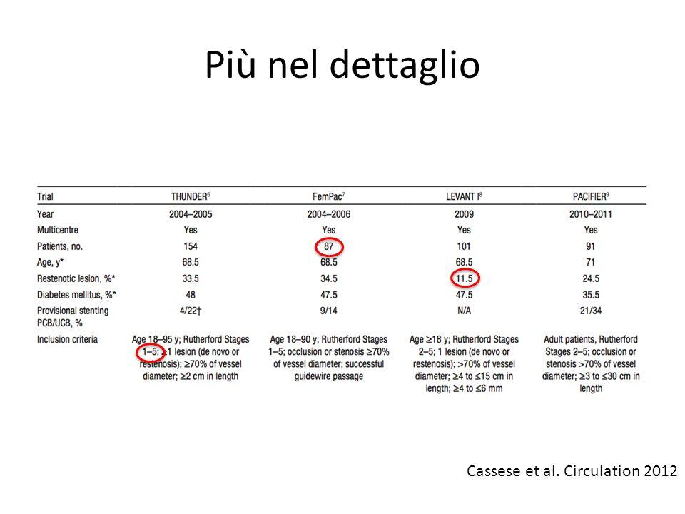 Più nel dettaglio Cassese et al. Circulation 2012