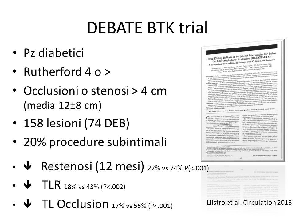 DEBATE BTK trial Pz diabetici Rutherford 4 o >