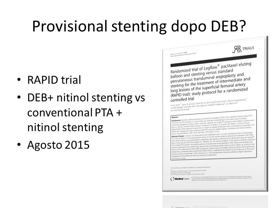 Provisional stenting dopo DEB