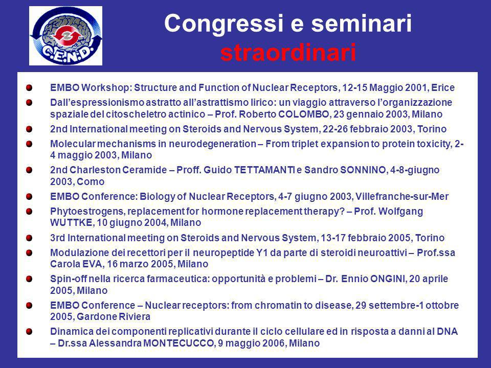 Congressi e seminari straordinari