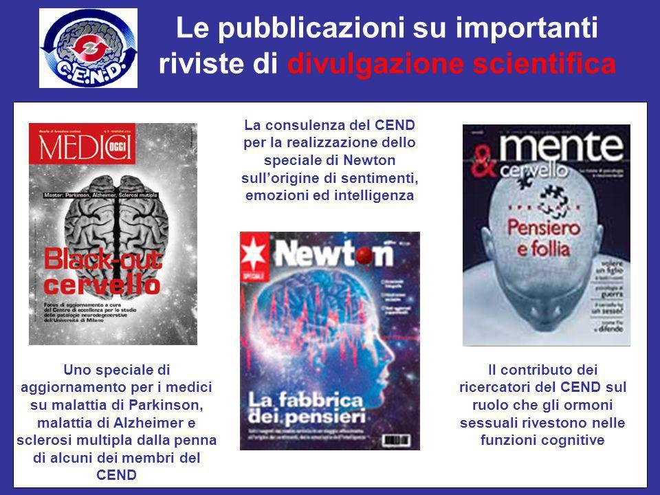 Le pubblicazioni su importanti riviste di divulgazione scientifica