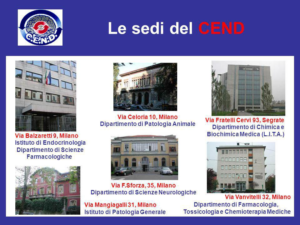 Le sedi del CEND Via Celoria 10, Milano