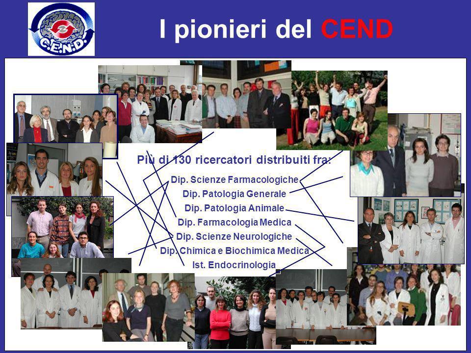 I pionieri del CEND Più di 130 ricercatori distribuiti fra:
