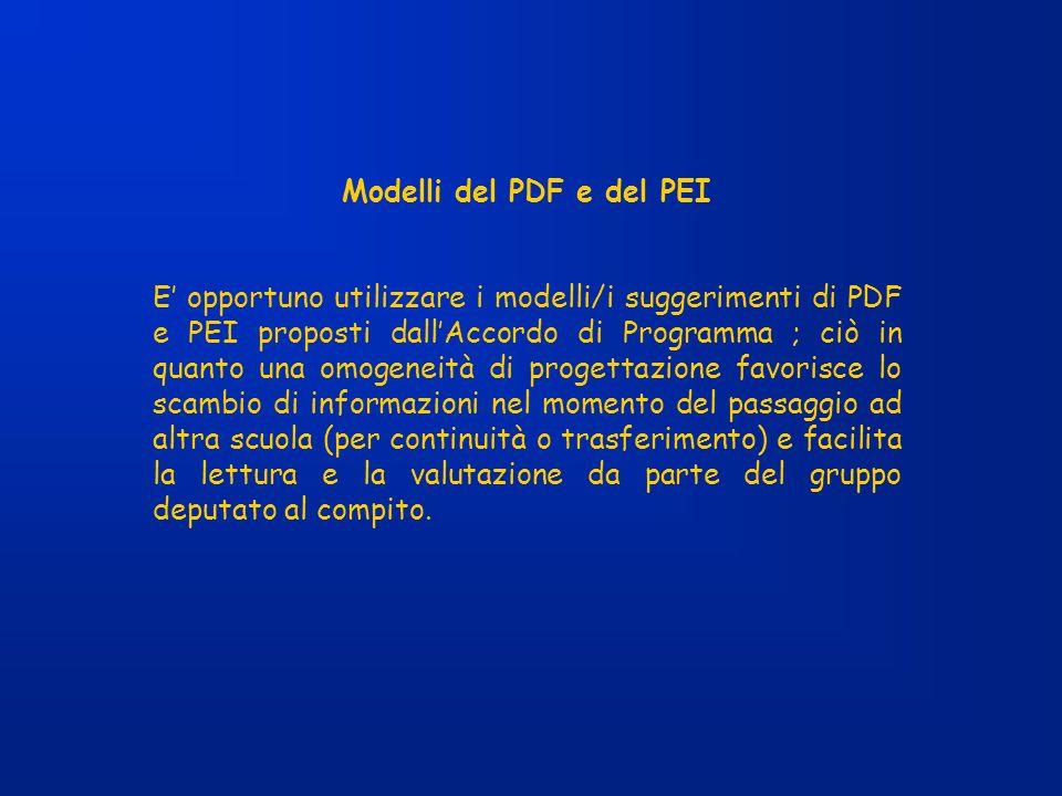 Modelli del PDF e del PEI