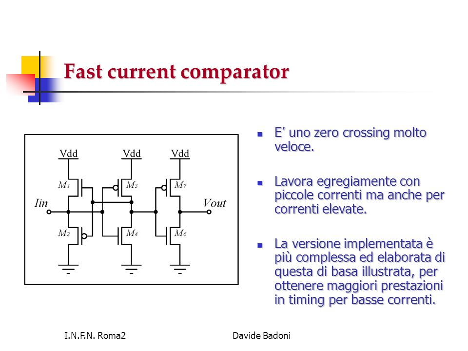 Fast current comparator