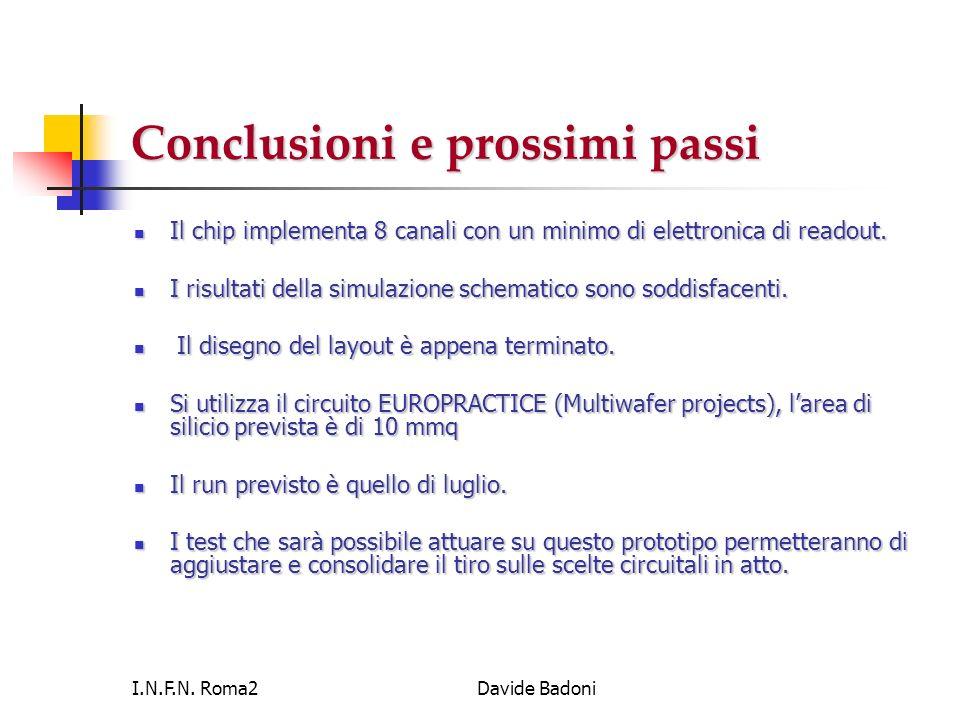 Conclusioni e prossimi passi