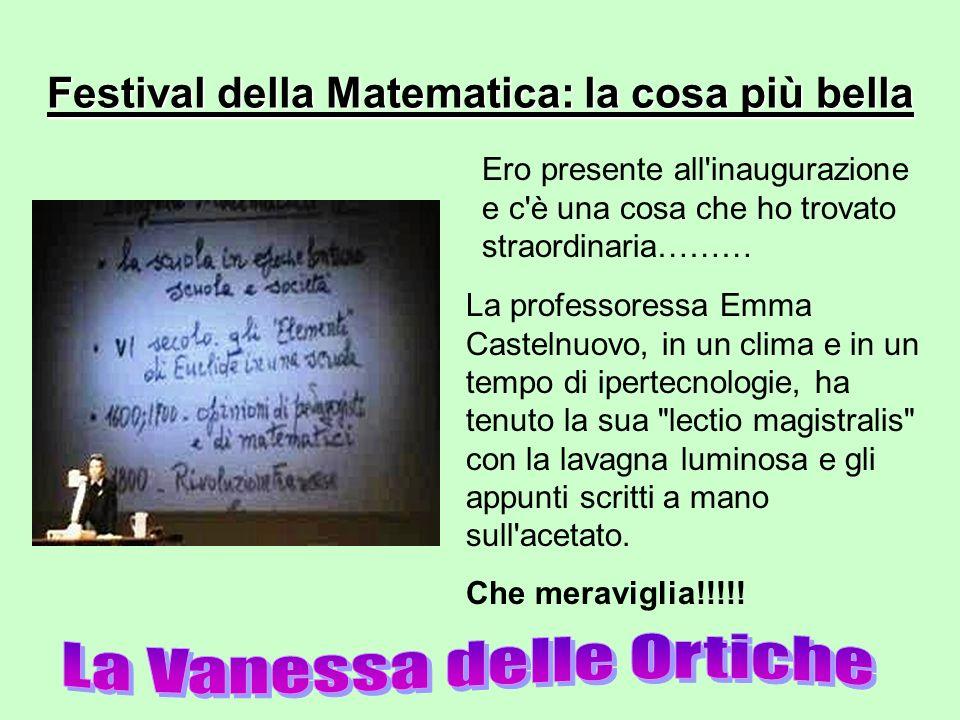 Festival della Matematica: la cosa più bella
