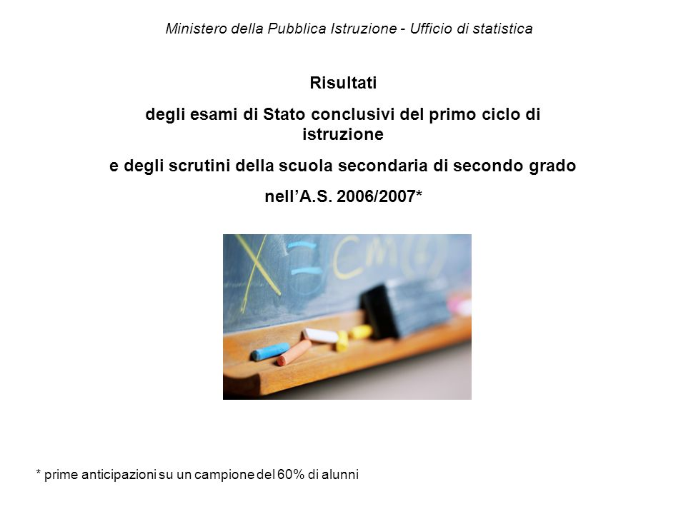 Ministero della Pubblica Istruzione - Ufficio di statistica