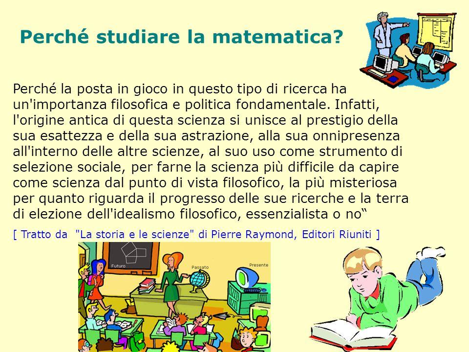 Perché studiare la matematica