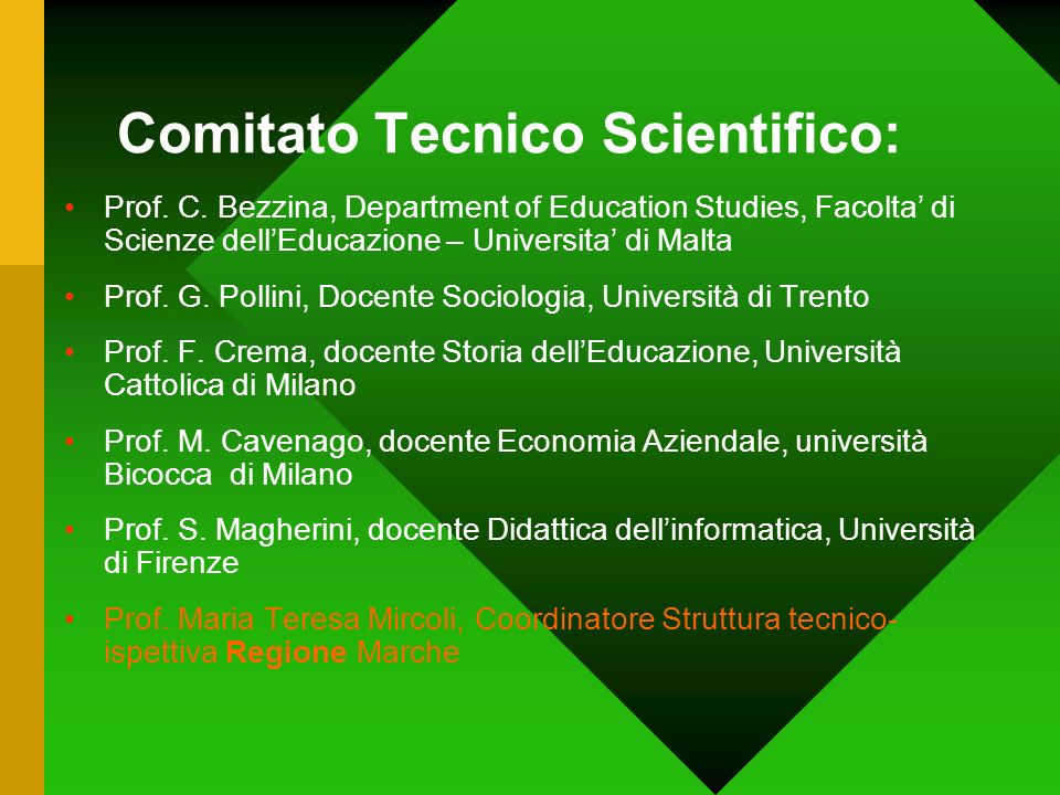 Comitato Tecnico Scientifico: