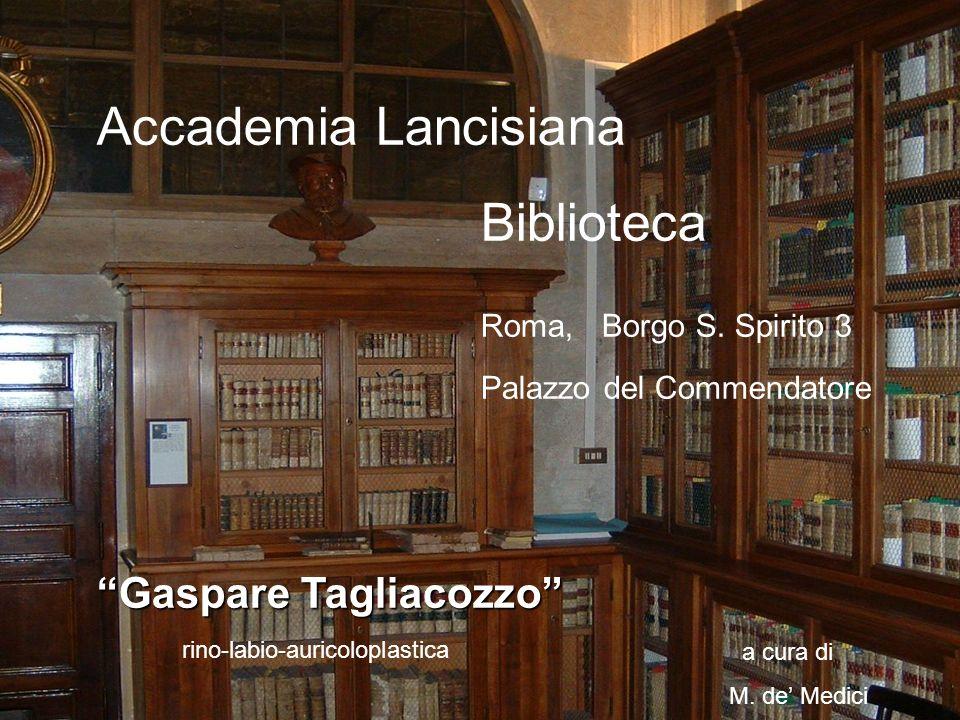 Accademia Lancisiana Biblioteca Roma, Borgo S. Spirito 3