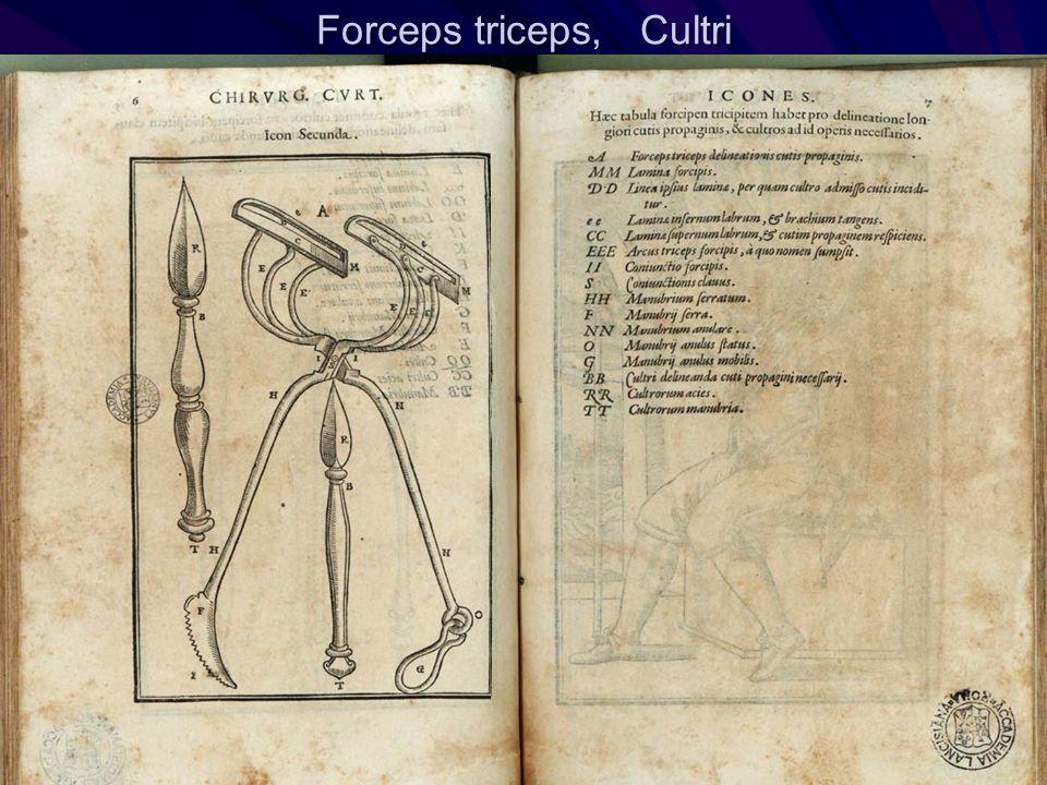 Forceps triceps, Cultri