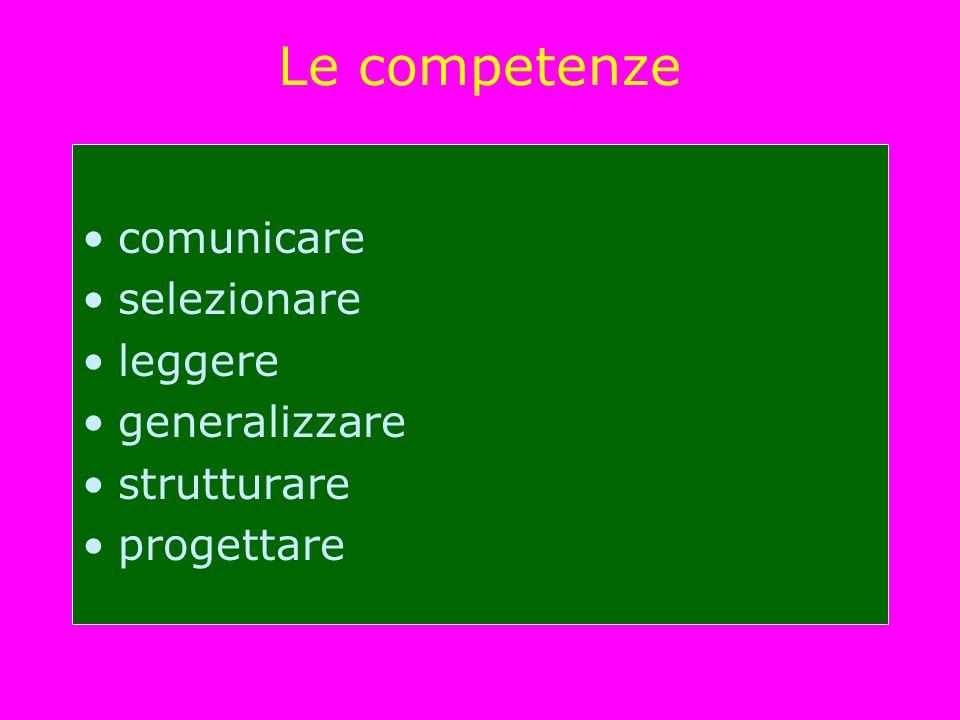 Le competenze comunicare selezionare leggere generalizzare strutturare