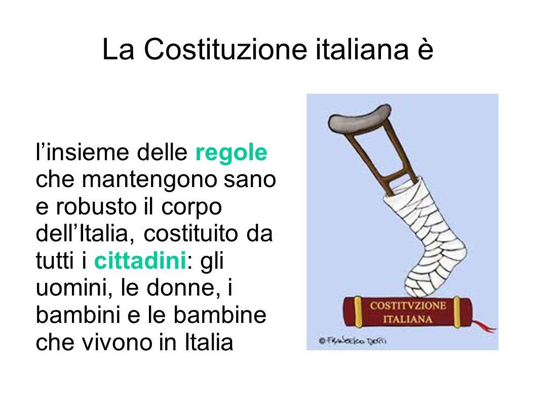 La Costituzione italiana è