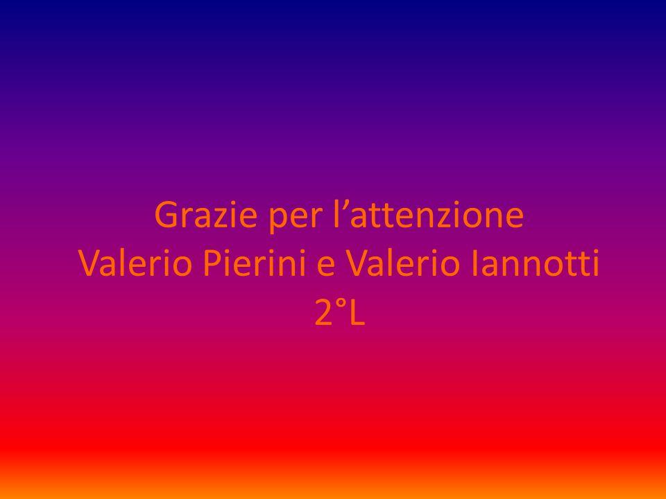 Grazie per l'attenzione Valerio Pierini e Valerio Iannotti 2°L