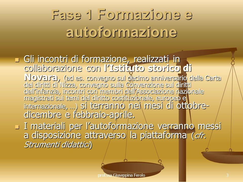 Fase 1 Formazione e autoformazione