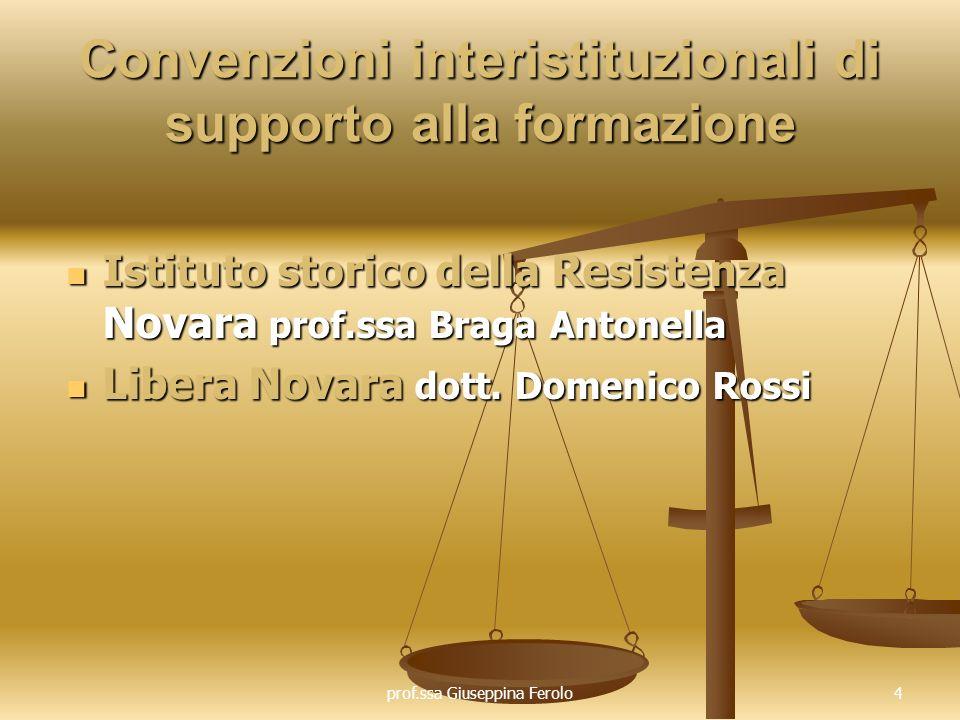 Convenzioni interistituzionali di supporto alla formazione