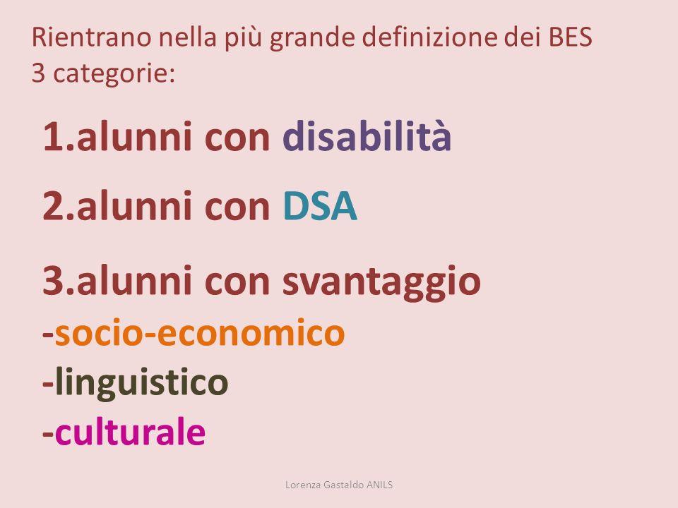 Rientrano nella più grande definizione dei BES 3 categorie:
